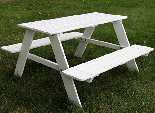 Bigger-Kids-Picnic-Table-Solid-Wood-White-36-X-35-Inches-Indoor-or-Outdoor-0-0