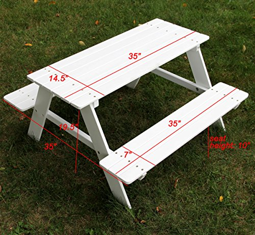 Bigger-Kids-Picnic-Table-Solid-Wood-White-36-X-35-Inches-Indoor-or-Outdoor-0-1