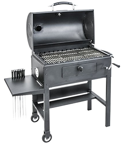 Blackstone-Charcoal-Grill-Barbecue-Smoker-With-Automatic-Rotisserie-Blackstone-3-in-1-Kabob-0