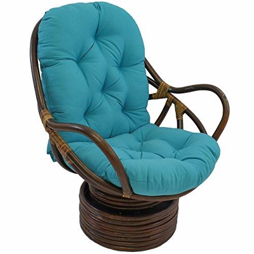 Blazing Needles Solid Twill Swivel Rocker Chair Cushion