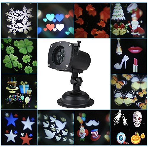 Blusmart-Projection-Lamp-Waterproof-Motion-Projector-LED-Light-with-12-Replaceable-Lens-Festival-Slides-Landscape-Lighting-for-Halloween-Christmas-Birthday-Wedding-Party-Holiday-Wall-Decoration-0