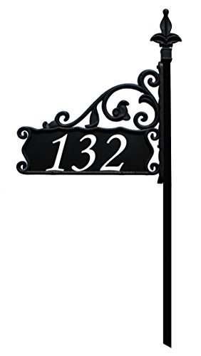 Boardwalk-Reflective-911-Home-Address-Sign-for-Yard-Custom-Made-Address-Plaque-Wrought-Iron-Look-Exclusively-By-Address-America-0