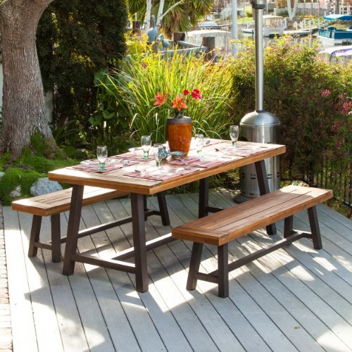 Bowman-Wood-Picnic-Table-Style-Outdoor-Dining-Set-with-Bench-Seats-0