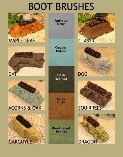 CAT-BOOT-BRUSH-155-KITTEN-Shoe-Scraper-DARK-BROWN-STAIN-CEMENT-Outdoor-Garden-Doorway-Decor-0-0