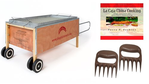 Caja-China-Roasting-Box-Pig-Roaster-70lbs-w-free-Cookbook-and-Bear-Paws-0