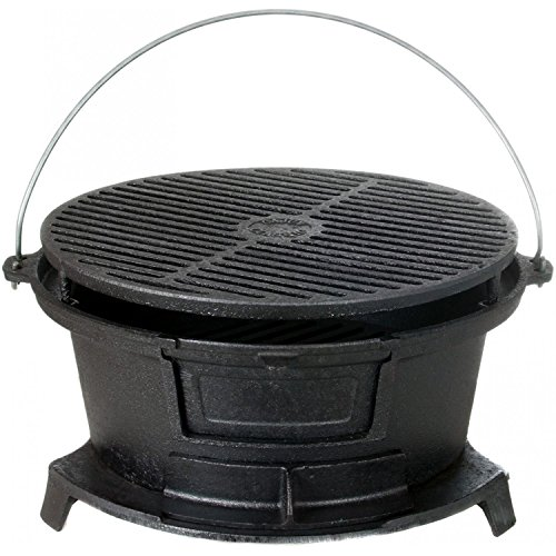 Cajun-Cookware-Round-Seasoned-Cast-Iron-Charcoal-Hibachi-Grill-Gl10447-0