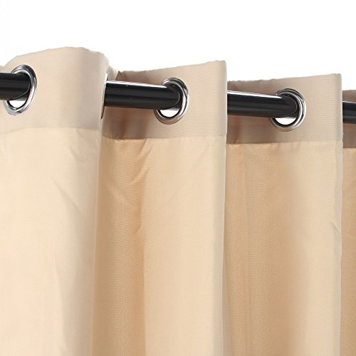 Castaway-Hammocks-Khaki-Polyester-Grommeted-Outdoor-Curtain-50-x-96-0