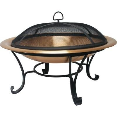 Catalina-30-Inch-Durable-Copper-Fire-Pit-Set-Including-Spark-Screen-Screen-Lifting-Tool-Log-Grate-and-Storage-Cover-0
