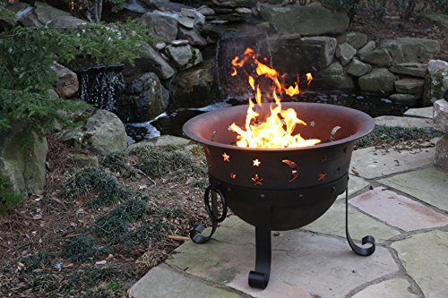 Catalina Creations Heavy Duty Cast Iron Fire Pit With