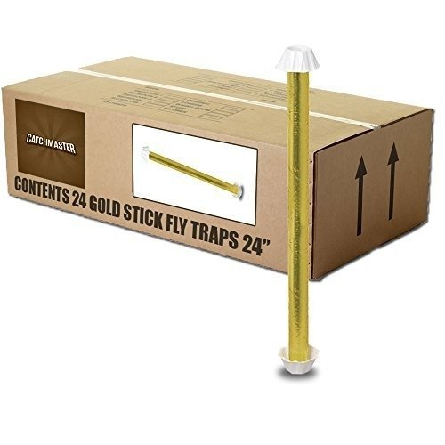 Catchmaster-Gold-Stick-962-Large-24-Fly-Trap-1-Case-24-Fly-Sticks-0