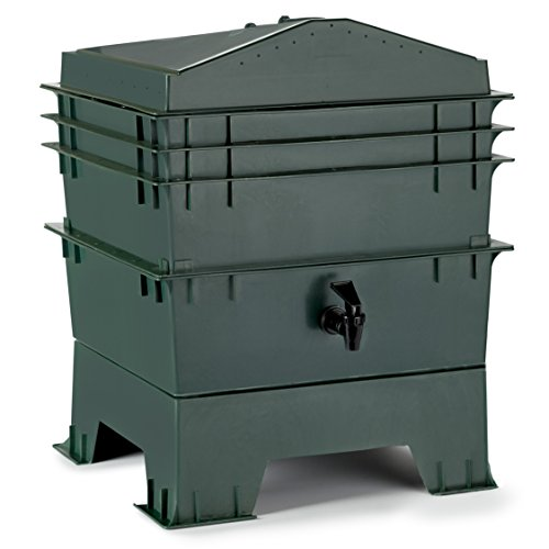 Chefs-Star-3-Tray-Stackable-Expandable-Recycled-Plastic-Odorless-Worm-Composter-0