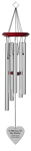 Chimesofyourlife-mo-heart-19-silver-Mother-Heart-Memorial-Wind-Chime-19-Inch-Silver-0
