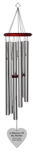 Chimesofyourlife-mo-heart-35-silver-Mother-Heart-Memorial-Wind-Chime-35-Inch-Silver-0