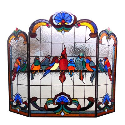 Chloe-Lighting-Aves-3-Panel-Glass-Fireplace-Screen-0