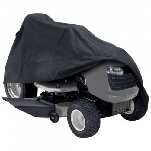 Classic-Accessories-73967-Deluxe-Riding-Lawn-Mower-Cover-Black-Up-to-54-Decks-0