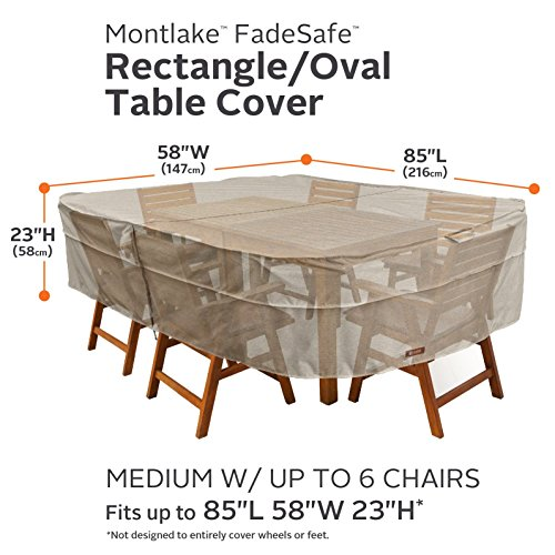 Classic-Accessories-Montlake-RectangleOval-Patio-Table-Chair-Set-Cover-0-0