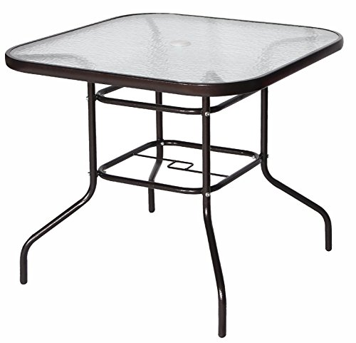 Cloud-Mountain-32-x-32-Tempered-Glass-Top-Umbrella-Stand-Table-Patio-Square-Outdoor-Dining-Table-Dark-Chocolate-0