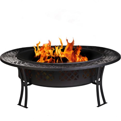 CobraCo-Diamond-Mesh-Fire-Pit-with-Screen-and-Cover-FB8008-0