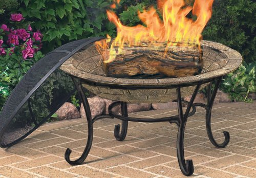 Cobraco Fb6102 Round Cast Iron Brick Finish Fire Pit With
