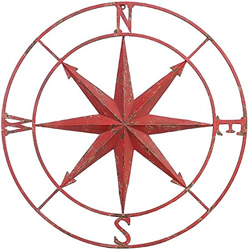 Compass-Rose-Metal-Wall-Plaque-0