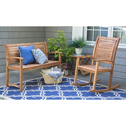 Contemporary-4-ft-Horizontal-Slat-Back-Outdoor-Garden-Bench-Made-Of-Premium-Acacia-Wood-With-Slightly-Curved-Arms-In-Natural-Acacia-Wood-Finish-600-pounds-weight-capacity-Assembly-Required-0-1