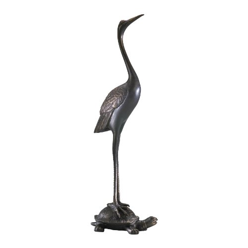 Crane-Resting-on-Turtle-Carved-Iron-Door-Stop-0