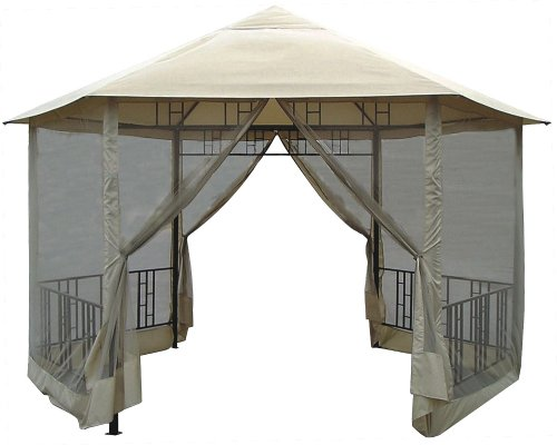 DC-America-GO31805BL-BB-Hexagon-Gazebo-with-Insect-Screen-0