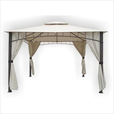 DC-America-SHGO12105MBR-GM-Soho-10-Foot-x-12-Foot-Square-Column-Two-Tier-Gazebo-with-Faux-Privacy-Screen-Bronze-0
