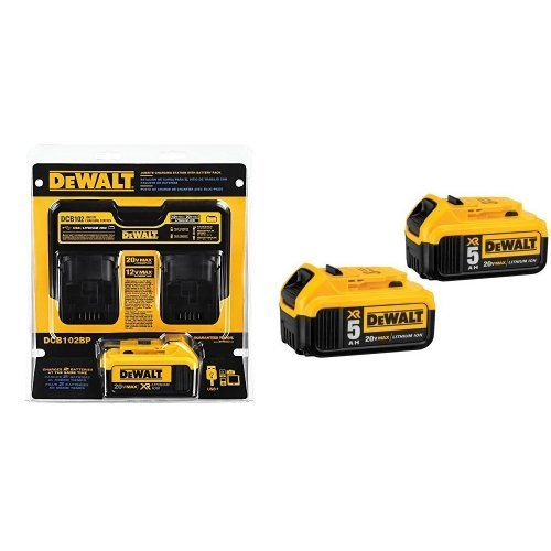 DEWALT-DCB102BP-20-volt-MAX-Jobsite-Charging-Station-with-Battery-Pack-0