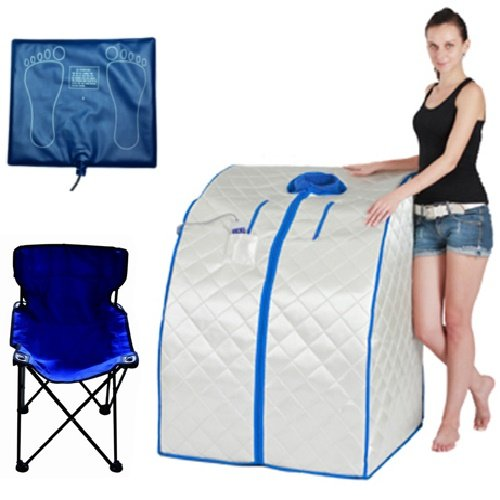 DURHERM-DIF-202-IR-FAR-Infrared-Indoor-Portable-Foldable-Sauna-with-Heating-Food-Pad-and-Chair-0