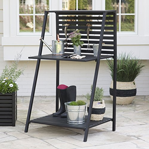 Danbury Outdoor Powder Coated Steel Potting Bench Comes
