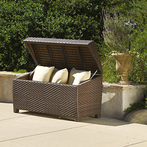 ... Deck Storage Box Waterproof Patio Furniture Storage Ottoman