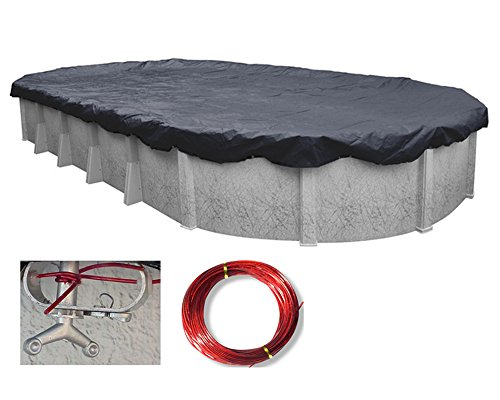 Deluxe Oval Above Ground Swimming Pool Winter Covers- 10 Year ...