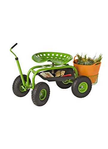 Deluxe Tractor Scoot With Bucket Basket Farm Amp Garden