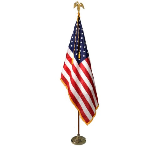 Deluxe-US-Flag-Presentation-Set-with-8-Pole-Stand-and-Eagle-Top-Ornament-Included-0