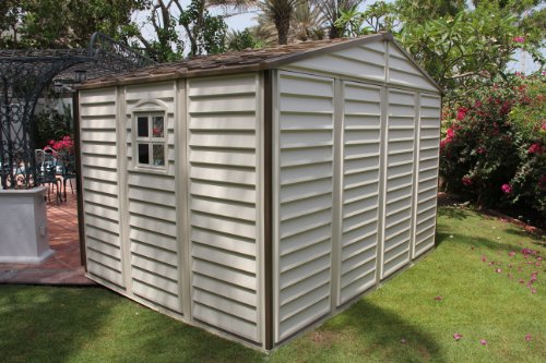 Duramax-30211-Woodside-Vinyl-Shed-with-Foundation-105-by-8-Feet-0-0