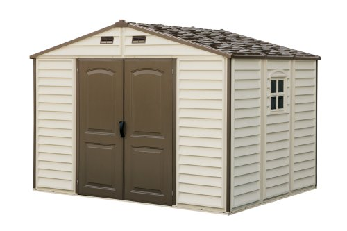 Duramax-30211-Woodside-Vinyl-Shed-with-Foundation-105-by-8-Feet-0