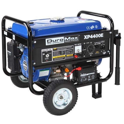 DuroMax-XP4400E-3500-Running-Watts4400-Starting-Watts-Gas-Powered-Portable-Generator-with-Wheel-Kit-0-0