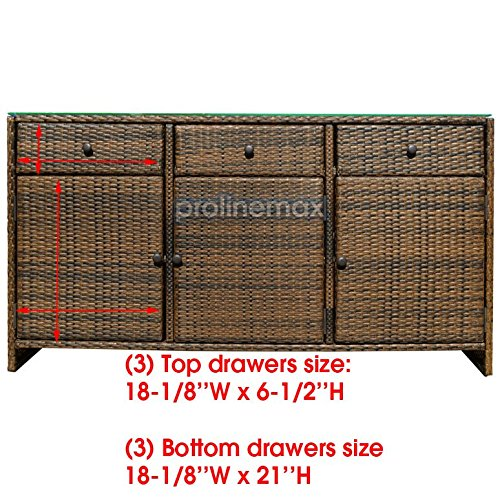 ESPRESSO-3-Drawers-Wicker-Rattan-Buffet-Serving-Cabinet-Table-Towel-Dining-Dish-China-Storage-Counter-Outdoor-0-0
