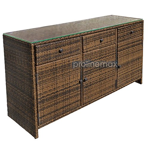 ESPRESSO-3-Drawers-Wicker-Rattan-Buffet-Serving-Cabinet-Table-Towel-Dining-Dish-China-Storage-Counter-Outdoor-0-1