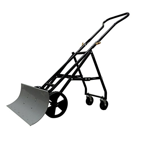 EasyGo-Folding-Four-Wheeled-Snow-Plow-Foldable-4-Wheel-Snow-Pusher-and-Thrower-Ergonomic-Prevents-Back-Pain-0
