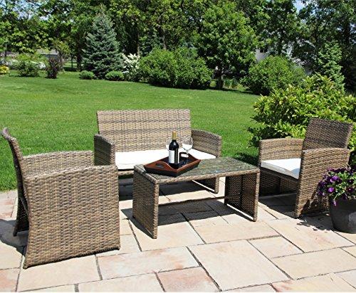 patio furniture patio furniture sets ecolinear 4pc rattan sofa cushion