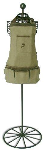 Esschert-Design-USA-4052-Secrets-du-Potager-Short-Nubuck-Cotton-Garden-Apron-Olive-Leaf-Color-0