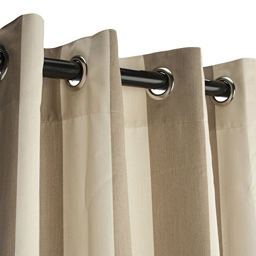 Essentials-by-DFO-Sunbrella-Outdoor-Curtain-with-Nickel-Plated-Grommets-in-Regency-Sand-50-in-x-84-in-0