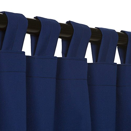 Essentials-by-DFO-True-Blue-Sunbrella-outdoor-curtain-with-tabs-108-long-0