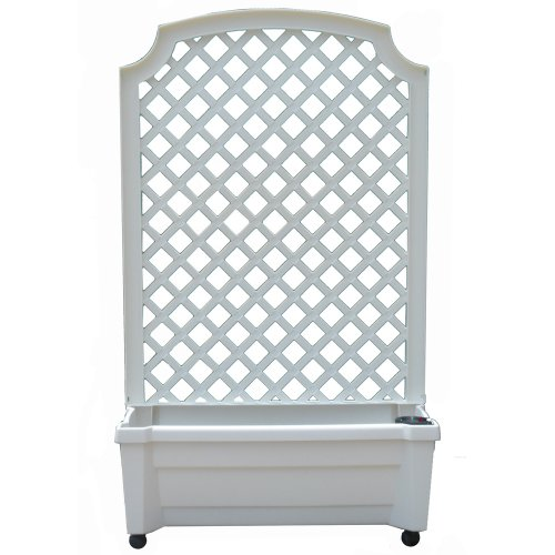Exaco-1416W-Calypso-Planter-with-Trellis-and-Self-Watering-System-0