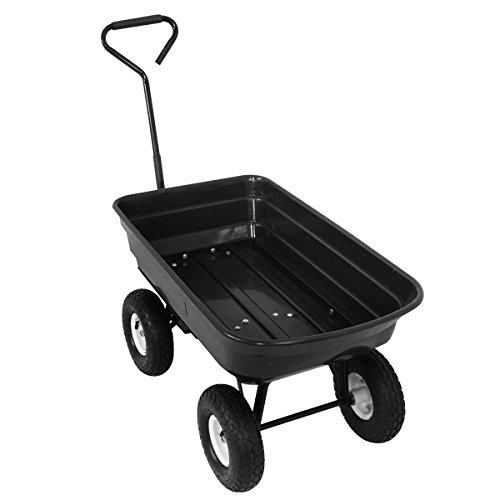 F2C-Poly-Garden-Dump-Cart-Heavy-Duty-Dumper-75L-650lb-Capacity-with-Steel-Frame-Pneumatic-Air-Tires-0-1