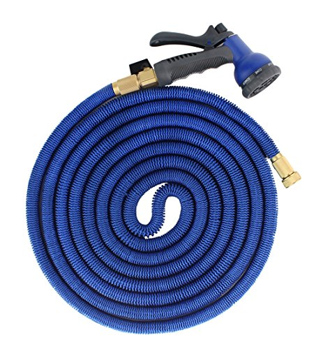 FOCUSAIRY-50-Feet-Expanding-Heavy-Duty-Expandable-Strongest-Garden-Water-Hose-with-Shut-Off-Valve-Solid-Brass-Connector-and-8-pattern-Spray-Nozzle-0