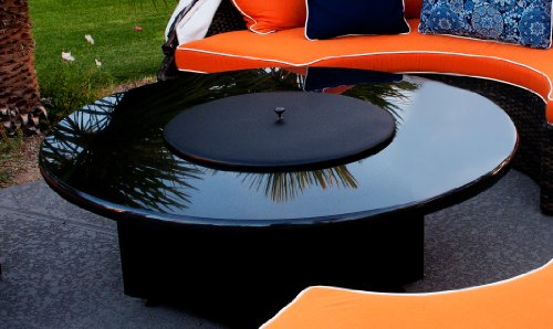 Fire Pit Fire Table Metal Cover- 22″ - Black 100% ...