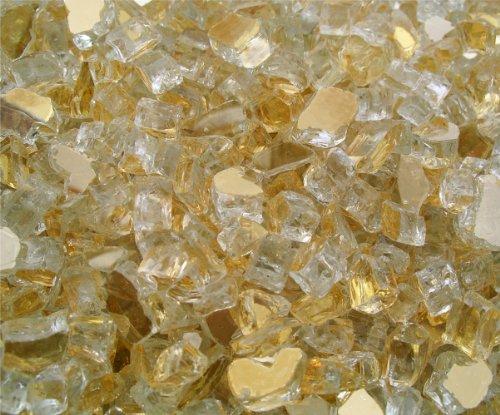 Fireglass-Fireplace-Fire-Pit-Glass-14-Gold-Reflective-25-LBS-0